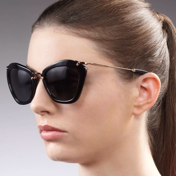 Miu Miu SMU10N 55  24 1AB Cat Eye Sunglasses. M 5aba8bdcb7f72b5b2a2856ff bdf3704f367bf